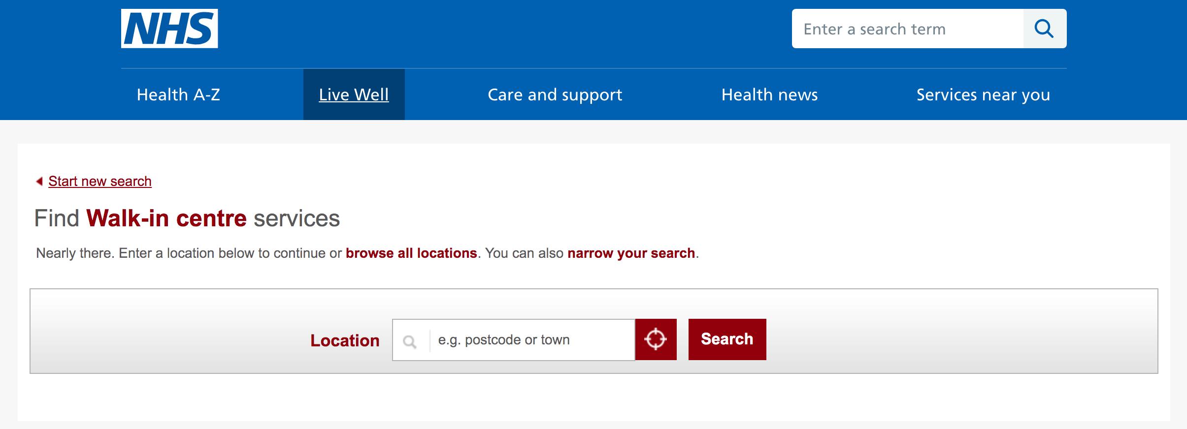 可以當天看診的英國 Walk in centre 醫院或診所