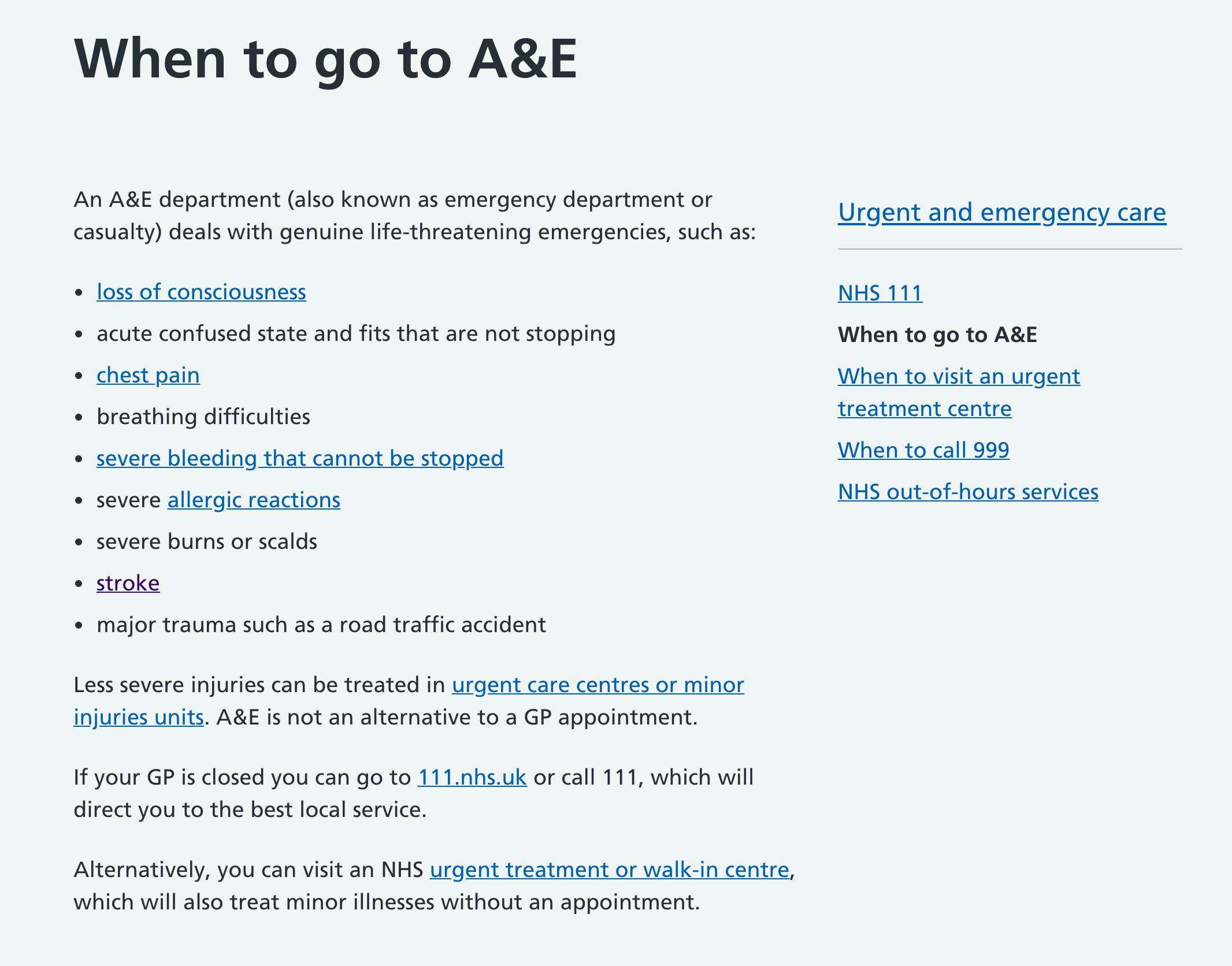 英國急診室 A&E